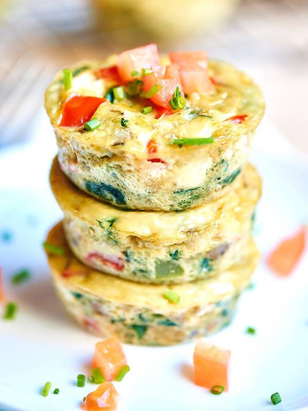 Egg muffin for breakfast