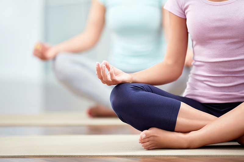 Yoga class choose good spot