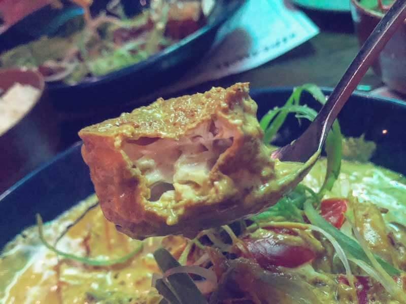 Tofu dish at Hideaway in Gold Coast, Australia