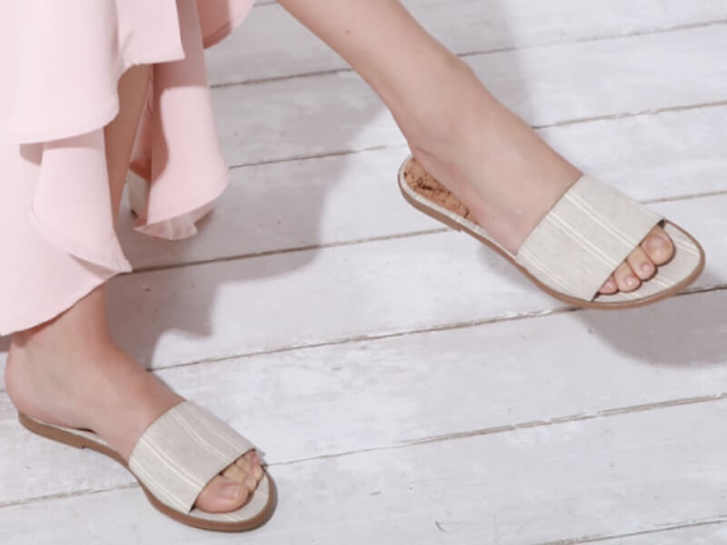 Pink and White Pineapple leather shoes